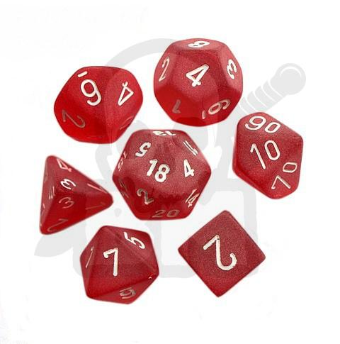 795c697d3aa74c Battle-Models > Kości RPG 7 szt. Frosted Red/white zestaw K4 6 8 10 ...