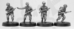 1944-45 US Airborne infantry with M1 garand & M43 suit