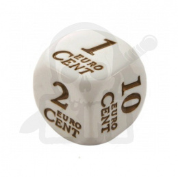 Money Dice Euro Symbols 20 mm RPG kostka monety K6