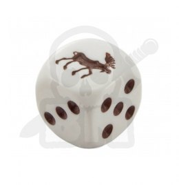Kostka kość K6 łoś 16 mm Moose Dice