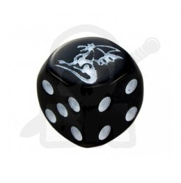 Kostka kość K6 smok 16 mm Dragon Black Dice