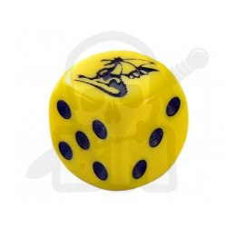 Kostka kość K6 smok 16 mm Dragon Yellow Dice
