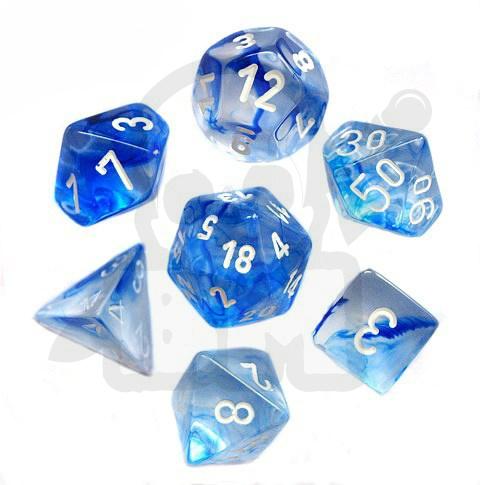 9207783b783fb2 Battle-Models > Kości RPG 7 szt. Nebula Dark Blue/white zestaw K4 6 ...