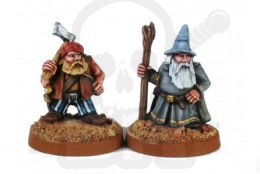 Adventuring dwarf wizard & assistant - 2 pcs