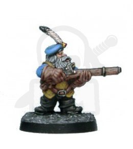 Krasnolud Shamus Dwarf adventurer with firearm
