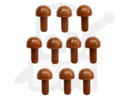 Pionki do gry Master Mind - grzybki brązowe 10 szt. Pionek 15mm Mushroom Peg Brown
