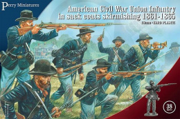 American Civil War Union Infantry in sack coats skirmishing 1861-65 38 szt.