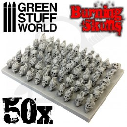 50x Resin Burning Skulls
