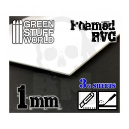 Foamed PVC 1 mm x3 (20x30 cm)