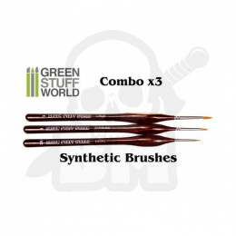 Brushes COMBOx3 Synthetic #2/0 #1 #3