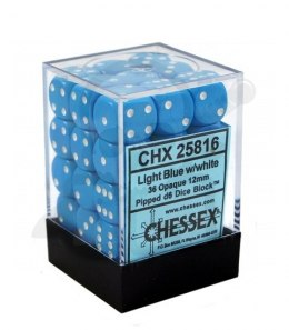 Kostki K6 12mm Chessex Light Blue 36 szt. + pudełko