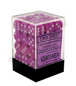 Kostki K6 12mm Chessex Light Purple 36 szt. + pudełko