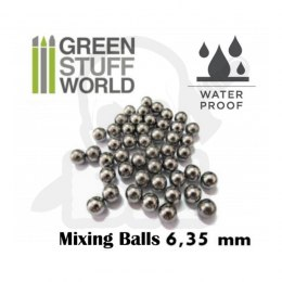 Mixing Paint Steel Bearing Balls in 6.35mm x40