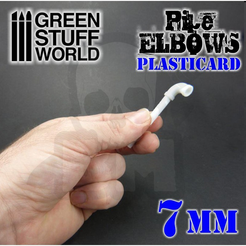 Plasticard Pipe ELBOWS 7mm