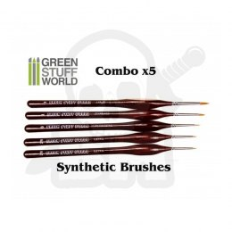 Brushes COMBOx5 Synthetic #2/0 #0 #1 #3