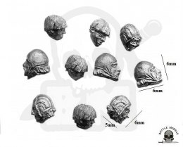 Plebs heads - 10 pcs
