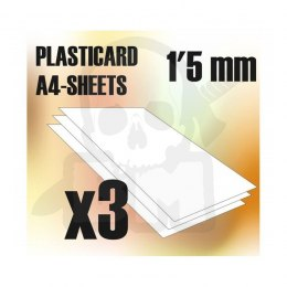 ABS Plasticard A4 - 1'5 mm COMBOx3 sheets