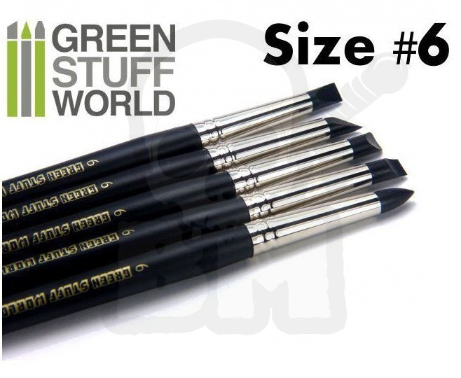 Colour Shapers Brushes SIZE 6 - BLACK FIRM