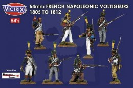 54mm French Napoleonic Voltigeurs 1805-1812 16 szt.