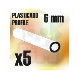 ABS Plasticard - Profile TUBE 6mm x5