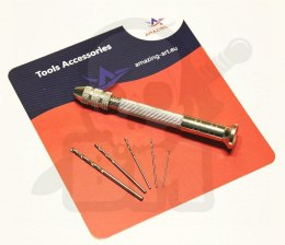 Mini Drill hand + 5 drills assorted Sizes