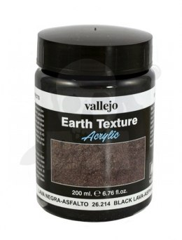 Vallejo 26214 Diorama Effects 200 ml Black lava, asphalt