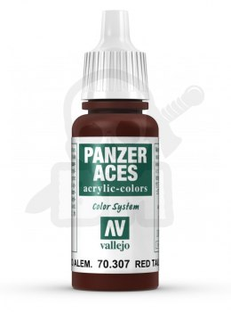 Vallejo 70307 Panzer Aces 17 ml German Red Tail Lights 17 ml Dark Rubber