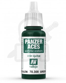 Vallejo 70308 Panzer Aces 17 ml Green Tail Light