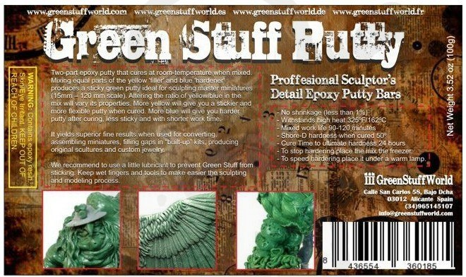 Green Stuff Bar 100 gr.