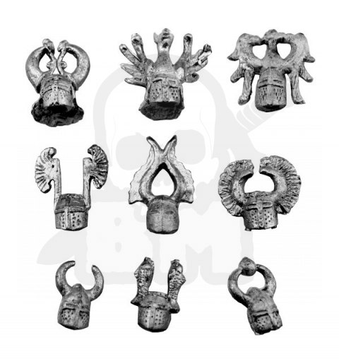 Knight heads - 9 pcs