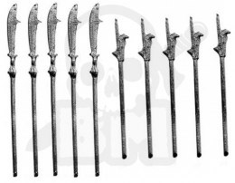 Naginata - metal weapon 10 pc