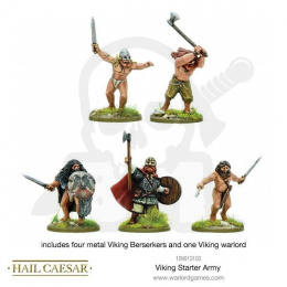 Viking Warlord and Four Beserkers