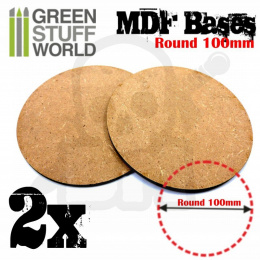 MDF Bases - Round 130mm x2