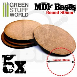 MDF Bases - Round 80mm x5