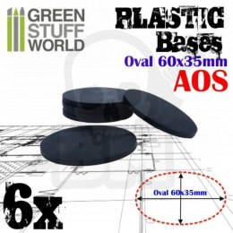 Plastic Oval Base 60x35mm