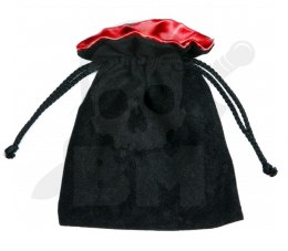 Black/Red Dice Bag 15x12cm