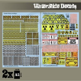 Decal Sheets - Caution Strips And Signs