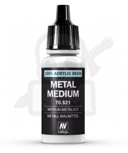 Vallejo 70521 Model Color Metal Medium 17 ml