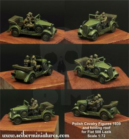 1:72 Polish Crew and roof for Fiat 508 Załoga łazika