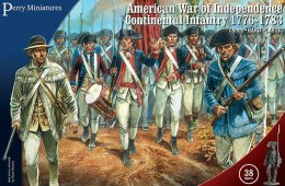 American War of Independence Continental Infantry 1776-1783 38 szt.