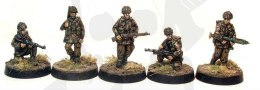WWII Bare headed polish paratroopers mixed poses