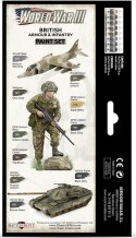 Vallejo 70222 Zestaw Model Color 8 farb - WWIII British Armour & Infantry