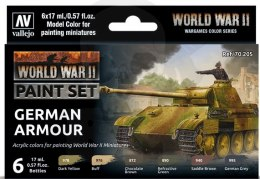 Vallejo 70205 Zestaw Model Color 6 farb - WWII German Armour