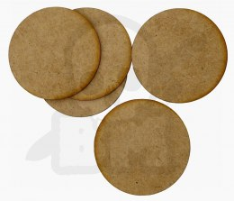 HDF Bases - Round 60 mm x5 Thickness: 1,5mm