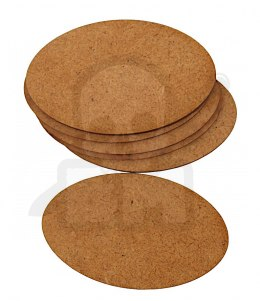 HDF Bases - Oval 75 mm x 45 mm - 6 pieces