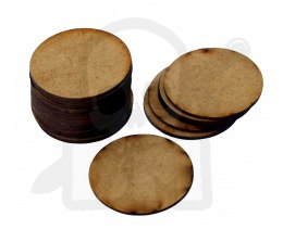 HDF Bases - Round 32 mm x20 Thickness: 1,5mm