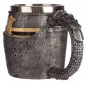 Medieval Helmet and Chain Mail Decorative Tankard
