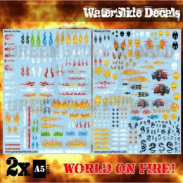 Waterslide Decals - World On Fire!