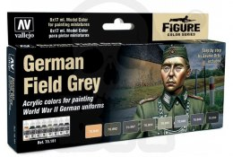 Vallejo 70181 Zestaw Model Color 8 farb - German Field Grey Uniform