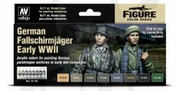 Vallejo 70185 Zestaw Model Color 8 farb - German Fallschirmjäger Early WWII